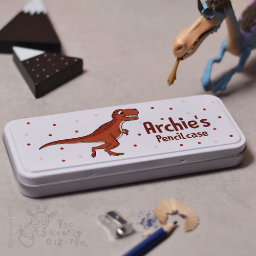 Personalised T-Rex Pencil Tin