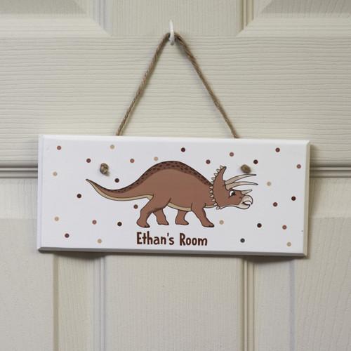Personalised Triceratops Sign
