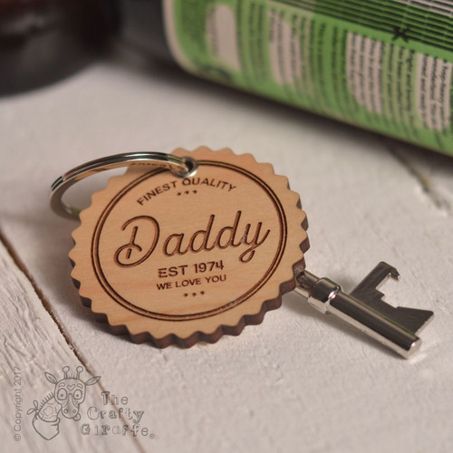 Personalised Finest Quality Keyring and Bottle Opener