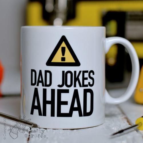 Warning Dad Jokes Ahead Mug