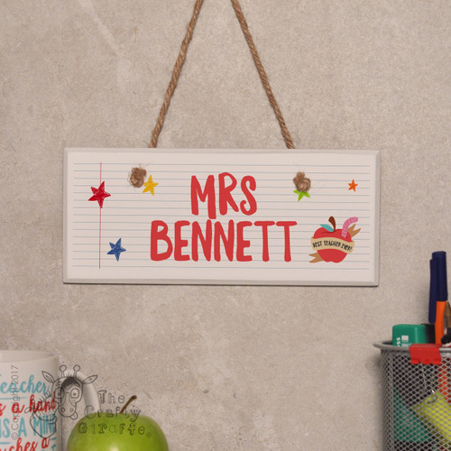 Personalised Best Teacher Ever - Apple Sign
