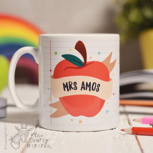 Personalised Apple Teacher Mug