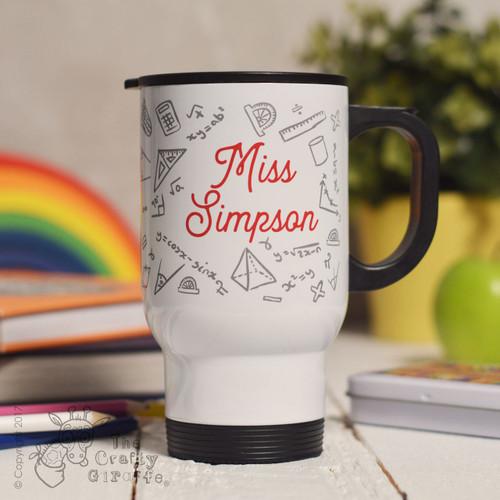 Personalised Maths Travel Mug