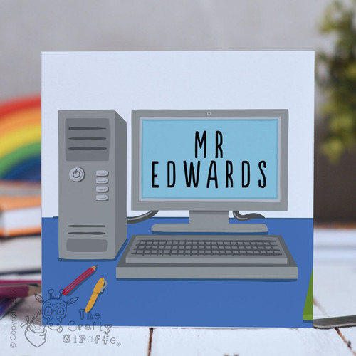 Personalised Computer Desk Card