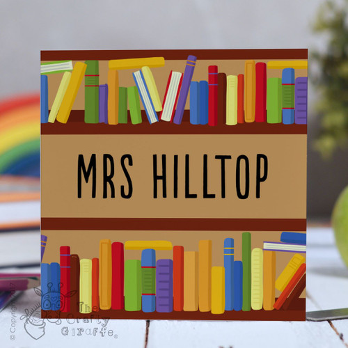 Personalised Books Card