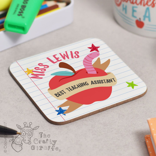 Personalised Best Teaching Assistant Coaster