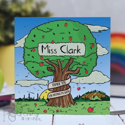 Personalised Apple Tree Card