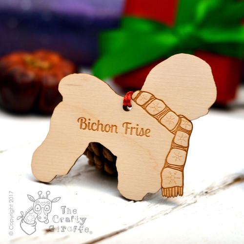 Personalised Bichon Frise Dog Decoration
