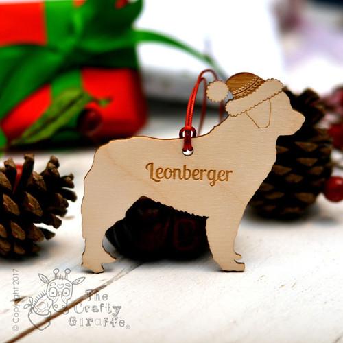 Personalised Leonberger Dog Decoration