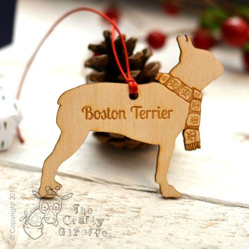 Personalised Boston Terrier Decoration