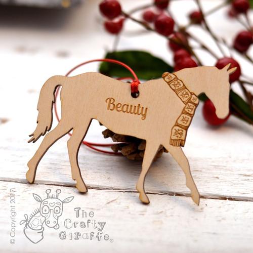 Personalised Horse Decoration