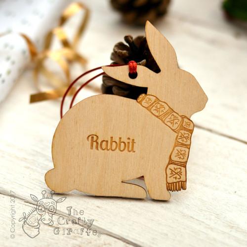 Personalised Rabbit Decoration