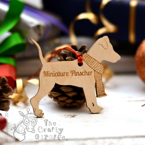 Personalised Miniature Pinscher Decoration