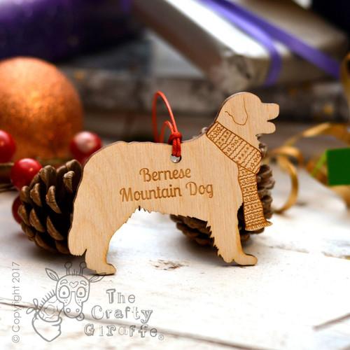 Personalised Bernese Mountain Dog Decoration