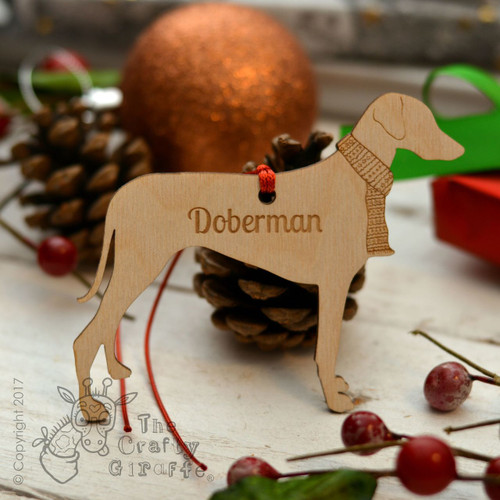 Personalised Doberman Dog Decoration - Long Tail