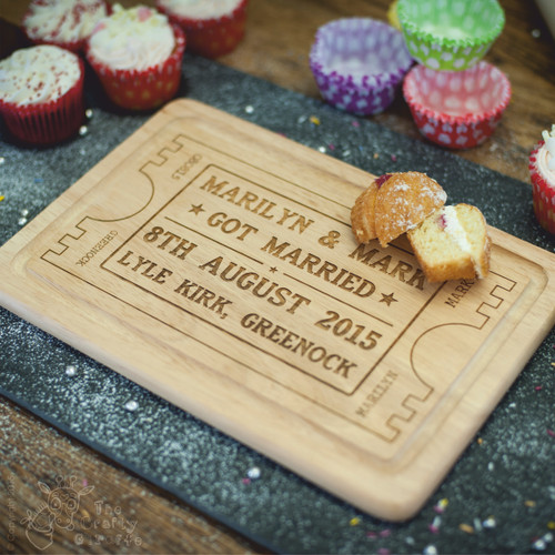 Personalised Wedding Ticket Board