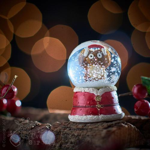 Owl Snowglobe - Earmuffs
