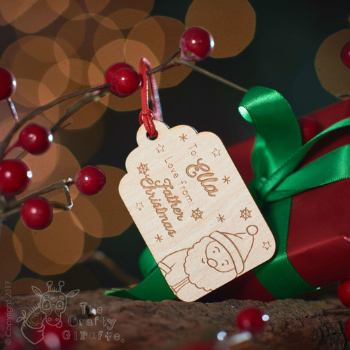 Personalised Present To/From Gift Tag - Santa