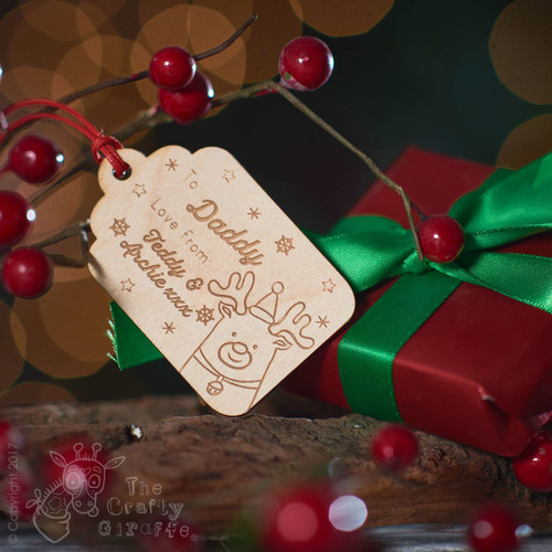 Personalised Present To/From Gift Tag - Reindeer