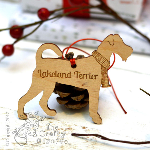 Personalised Lakeland terrier Decoration