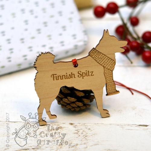 Personalised Finnish Spitz Decoration