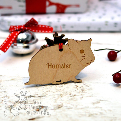Personalised Hamster Decoration