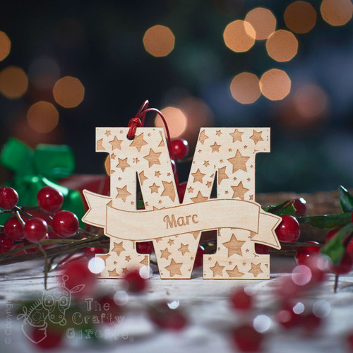 Personalised Starry Initial Decoration.