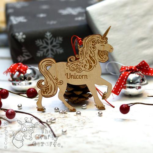 Personalised Unicorn Decoration