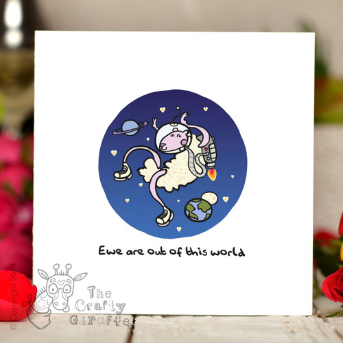 Ewe are out of this world Card