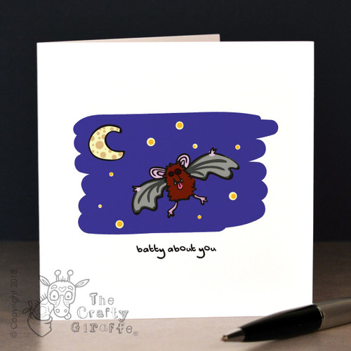 Batty about you (bats) Card