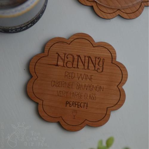 Personalised Drinks Order Coaster