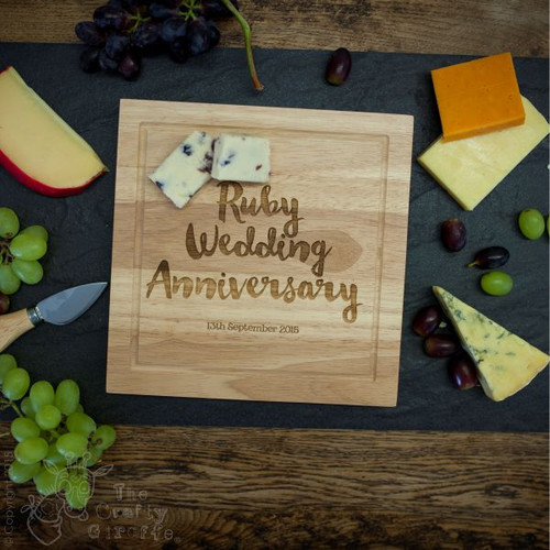 Personalised Wooden Cheese board with Knives