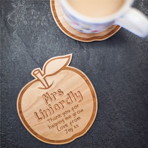 Personalised Apple Coaster