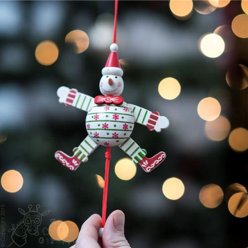 Rustic Snowman Jumping Jack