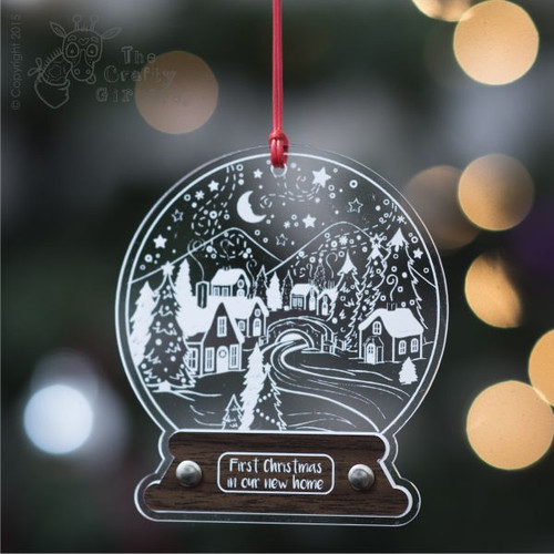 Personalised Winter Wonderland Snow Globe Decoration