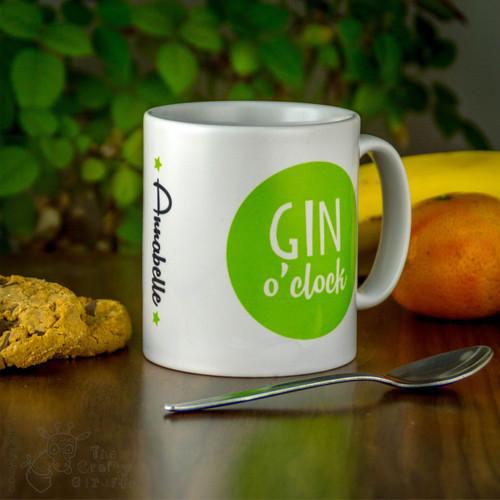 Personalised Mug - Gin O'Clock