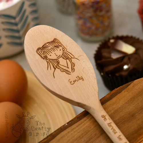 Personalised Character Spoon Face - Girl