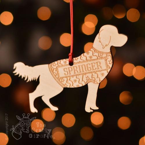 Personalised Springer Spaniel Decoration