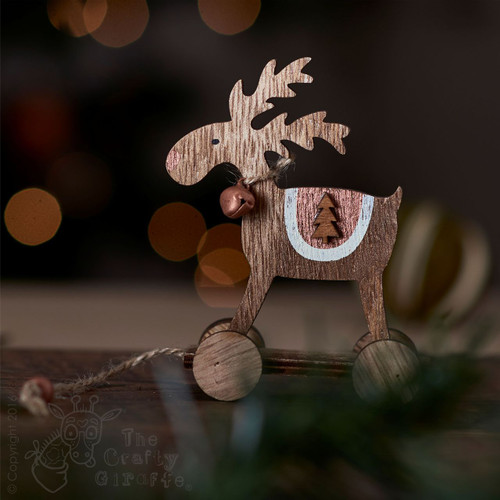 Reindeer hanging Decoration with wheels - Tree