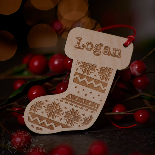 Personalised Nordic Stocking Decoration