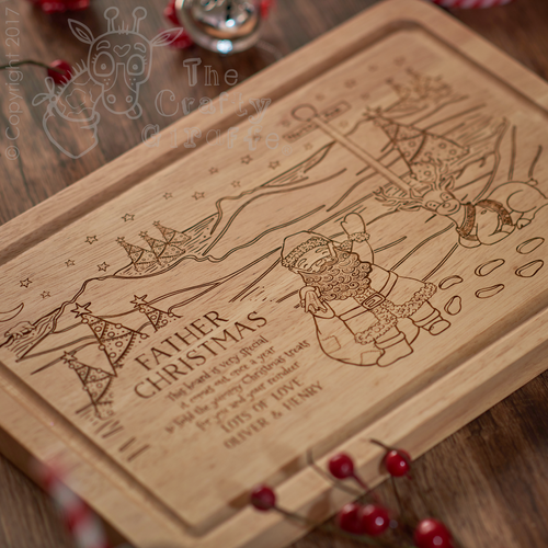 Personalised North Pole Santa Platter
