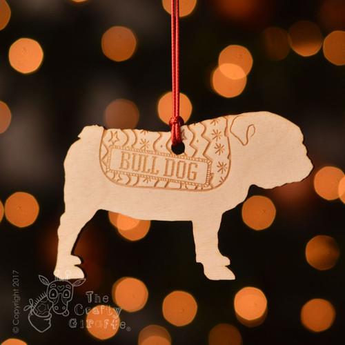 Personalised Bulldog Dog Decoration