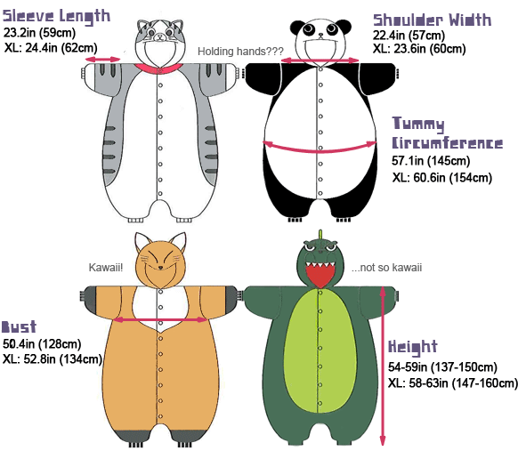 Kigurumi Measurements