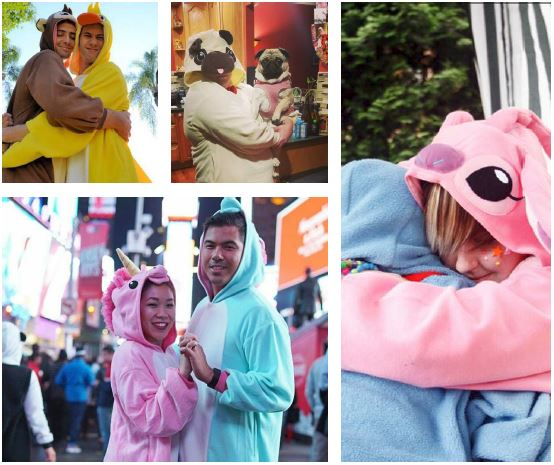 Le pyjama combinaison kigurumi idéal pour les couples.