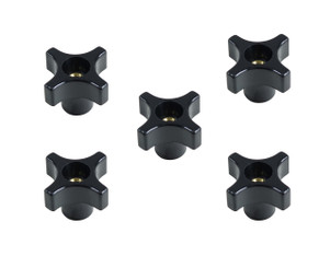 71076 4 Point Knob 1/4-20, 5-Pack