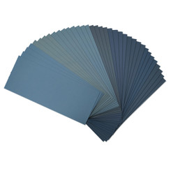 "471001 Wet Dry Sandpaper, Assorted Grit, 9"" by 3.6"", 36 PK, 4 of each400/ 600/ 800/ 1000/ 1200/ 1500/ 2000/ 2500/ 3000"