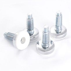 "71189 3/8""-16 Threaded Furniture Levelers with Threaded Inserts, 4PK"