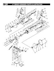 KEY#57 11802057 Lock Knob for Work Rest, M6x16 (11801057, BGSS801 KEY#21)