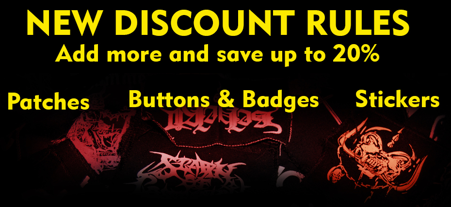 New discount Rules in patches buttons badges and stickers, buy more and save