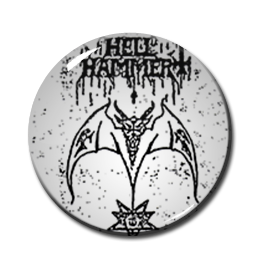 "Hellhammer - Satanic Rites 2.25"" Pin"